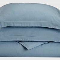 Ζεύγος Μαξιλαροθήκες Oxford 50x70+5 Luxury 6 Lake Blue